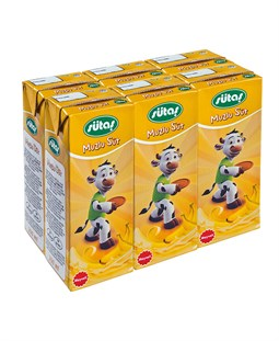 Banana  Flavored UHT Milk -  6 Pieces x 200 ml