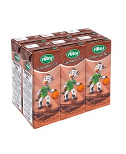 Chocolate Flavored UHT Milk -  6 Pieces x 200 ml