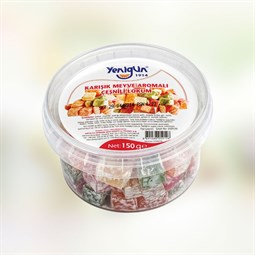 Mixed Fruit Flavoured Small Cut Turkish Delight - 150 gr