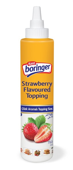Strawberry Flavored Topping Sauce - 750 gr